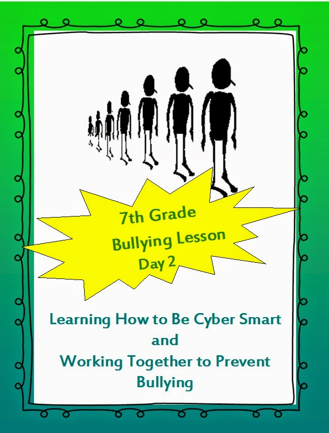 On Bullying - middle school lesson plans on bullying cyber worksheets ...
