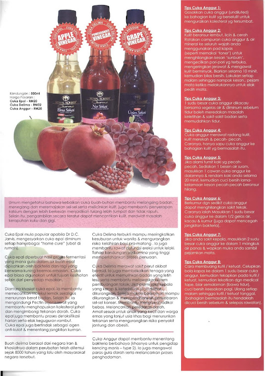 Apple,Pomegranate,Grape Vinegar Pamphlet