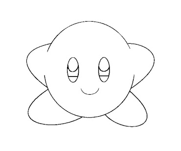 #8 Kirby Coloring Page