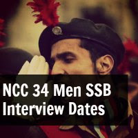 NCC 34 Men SSB Interview Dates by Indian Army
