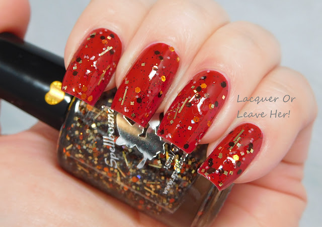Spellbound Nails Acromantula over Zoya Rekha