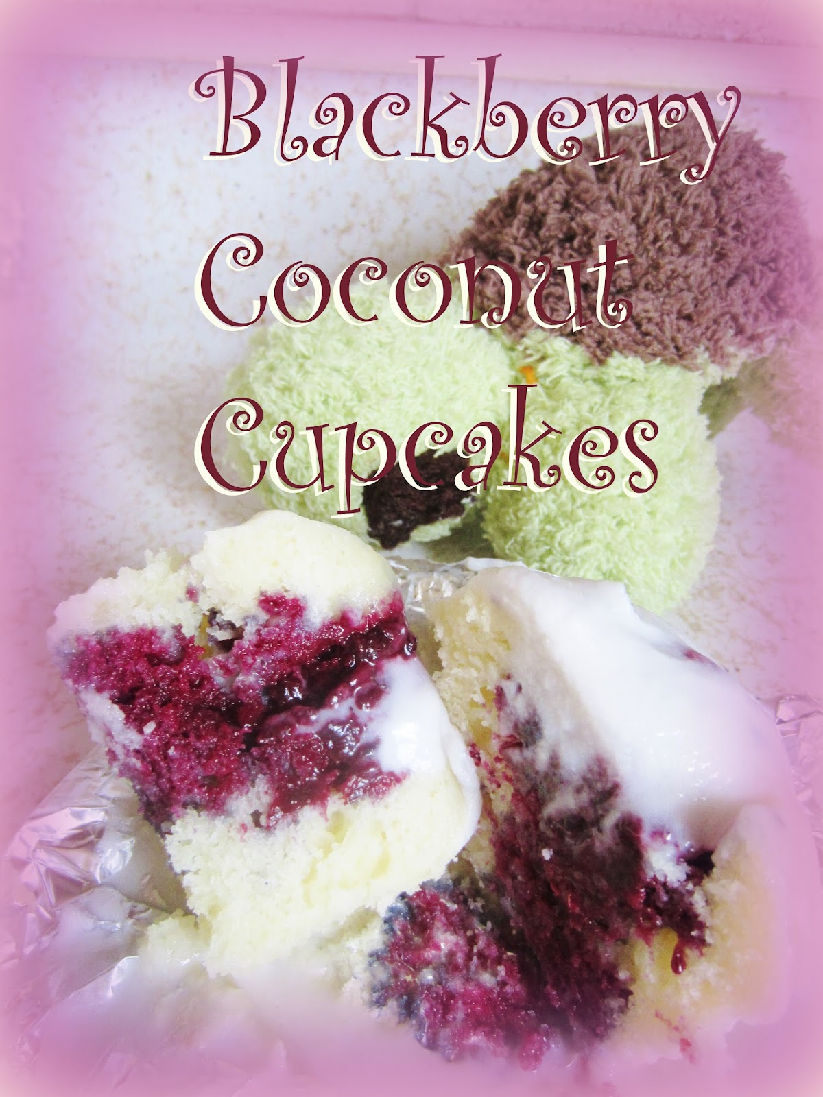 Violet's Silver Lining: Blackberry Coconut Cupcakes (Gluten-Free ...