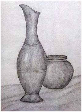 Still life by pencil drawing