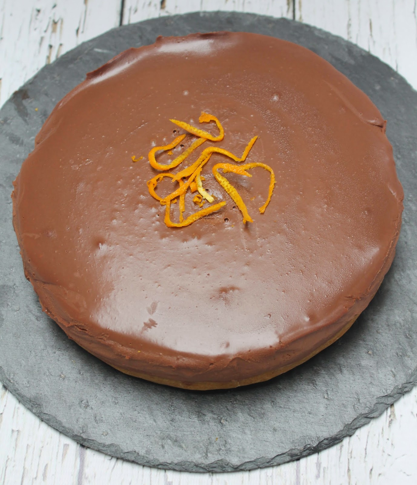 Salted caramel and chocolate orange torte