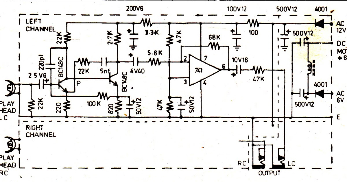Stereo Cassette Player Circuit Diagram
