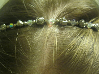 antique rose hair band