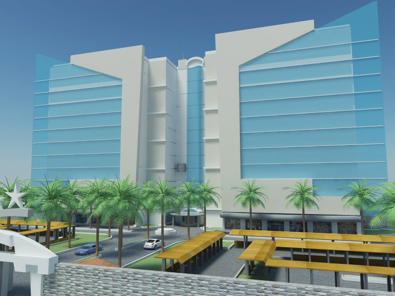 Design Of Front Elevation Of Commercial Building : D front elevation of plaza