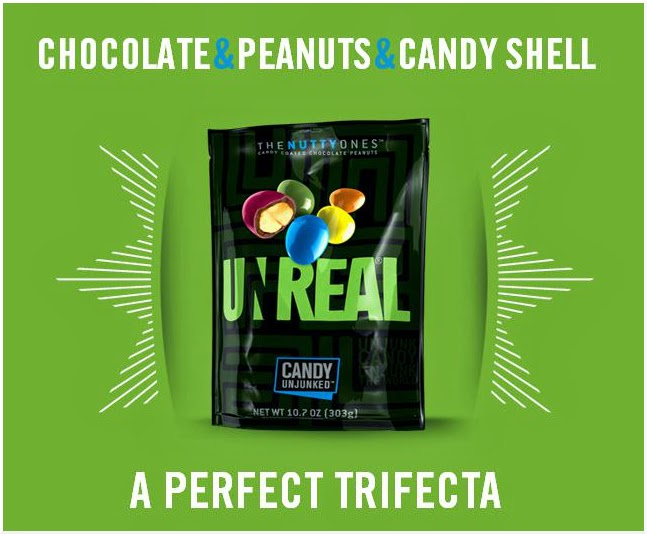 CLICK to order UNREAL candy coated chocolates with peanuts from Amazon.