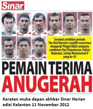DUNIA ITU: 9 pemain terima pingat sempena hari keputeraan Sultan