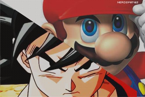 Façam suas apostas: Goku vs Super Mario