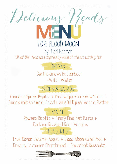 Blood Moon Book Club Menu