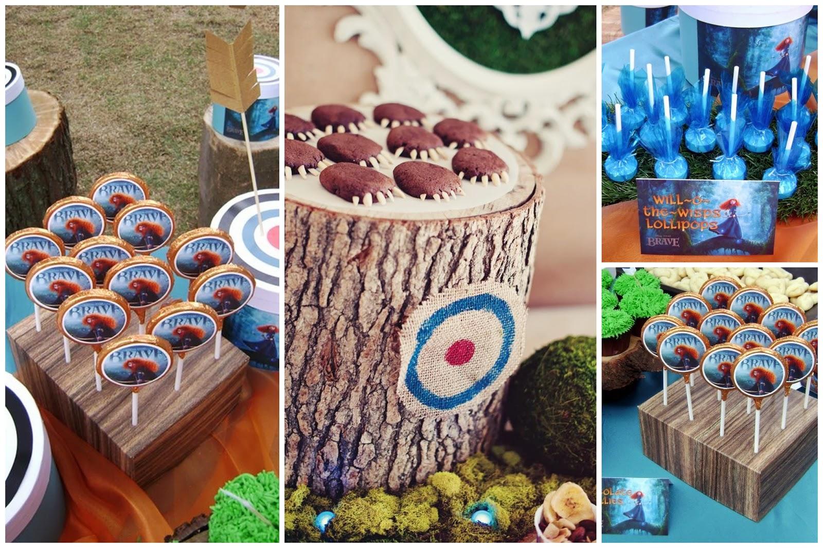 decoracao festa valente:adorei os detalhes da mesa, explorando o alvo e usando tronquinhos de
