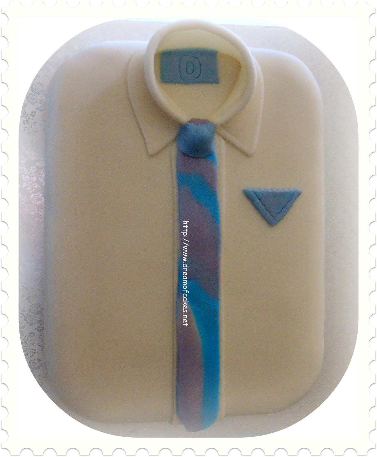 Dream Of Cakes Shirt And Tie Birthday Cake - Birthday cake shirt