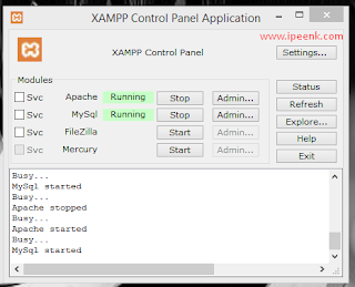 Cara Mengaktifkan Apache dan MySQL di Xampp Control Panel