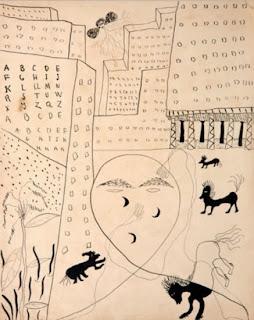 Dibujo de F.García Lorca para su Poeta en Nueva York