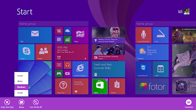 Cara Merubah Ukuran Ikon Start Menu Windows 8.1