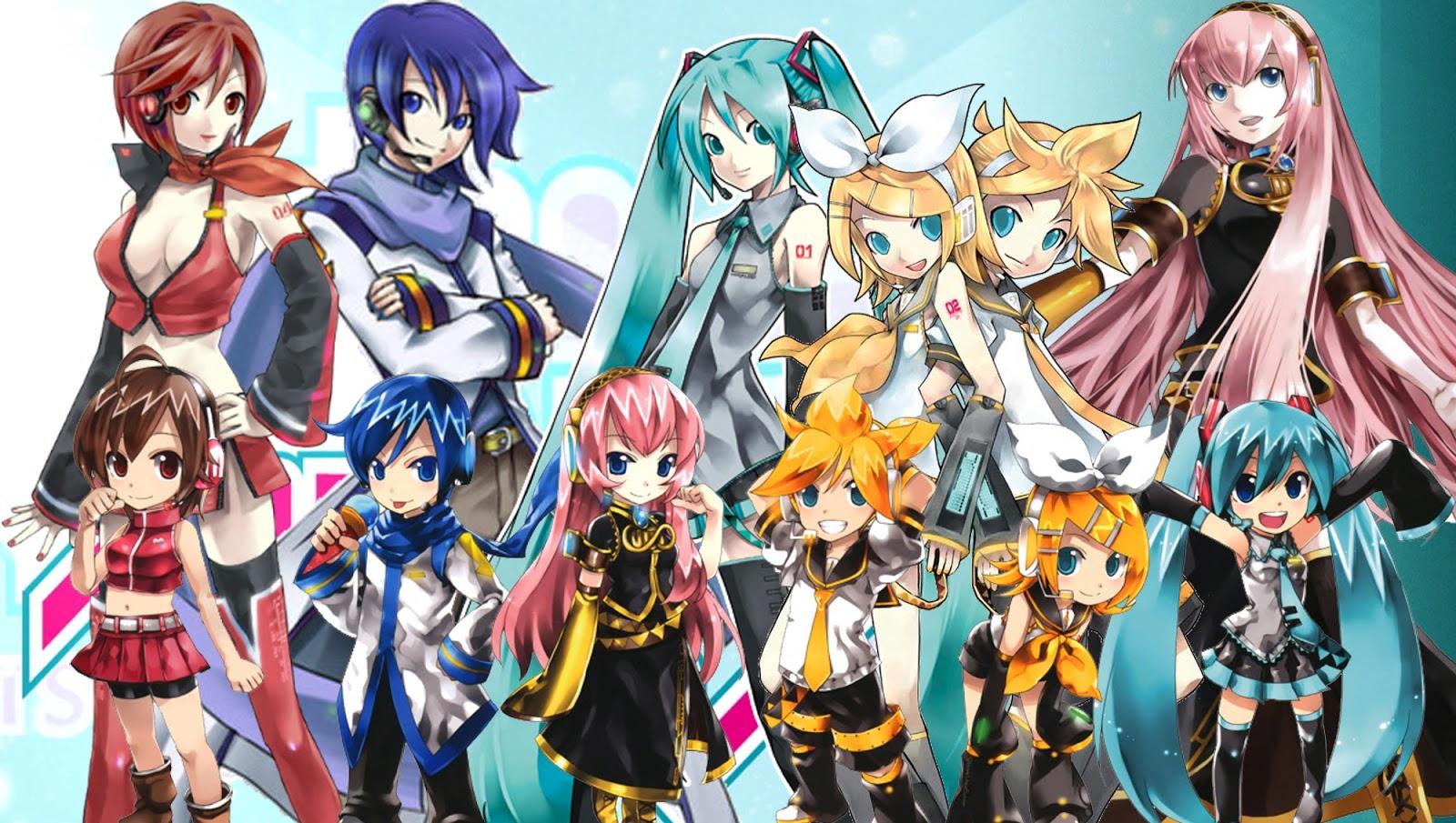 Vocaloid Chibi Group Wallpaper ¡Asombrate!: Voca...