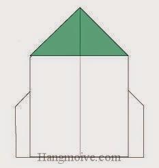 Bước 8: Hoàn thành cách xếp tên lửa bằng giấy origami đơn giản.