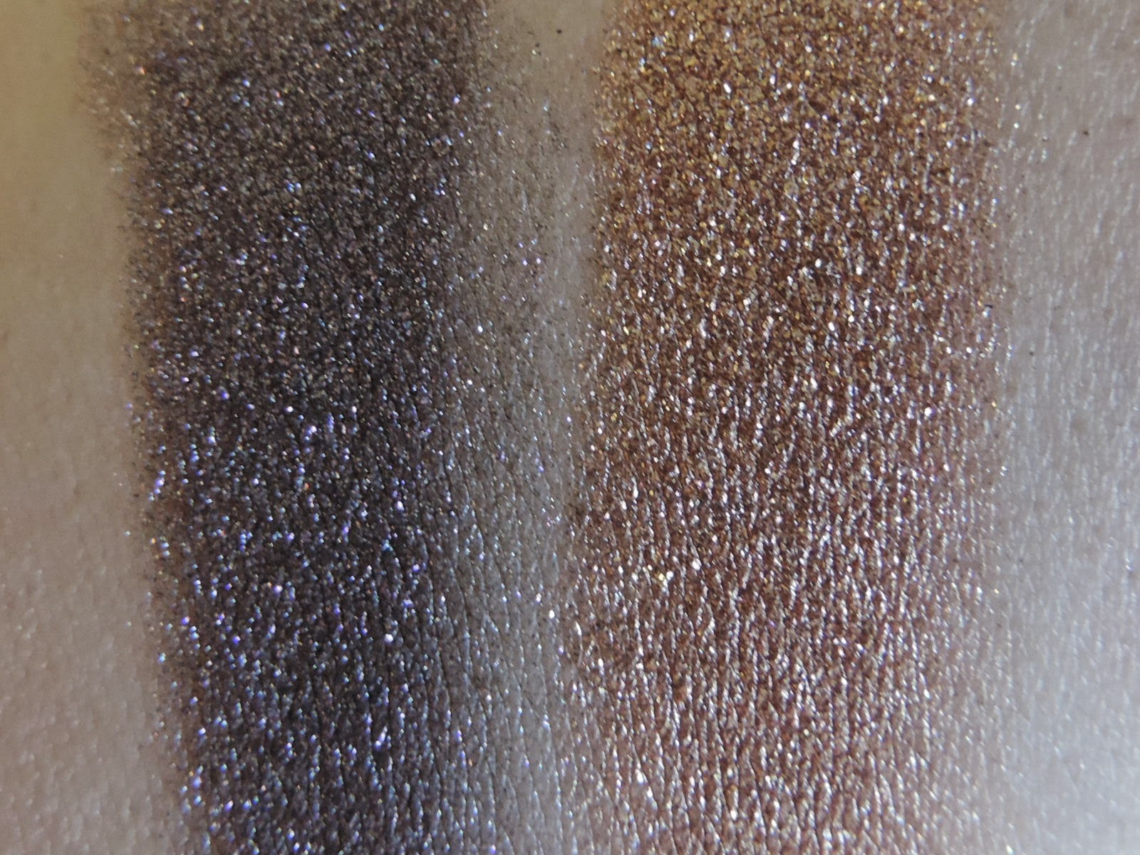 Swatches from left:  Hypnotique, Meteore