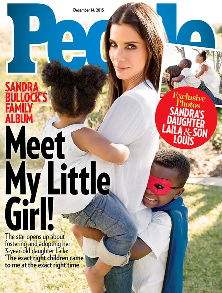Surprise! Sandra Bullock has adopted a girl