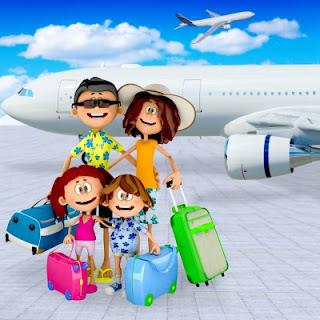 Picture of a family traveling