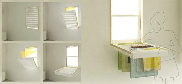 10 ideias criativas e úteis para móveis e objetos: Janela Varal