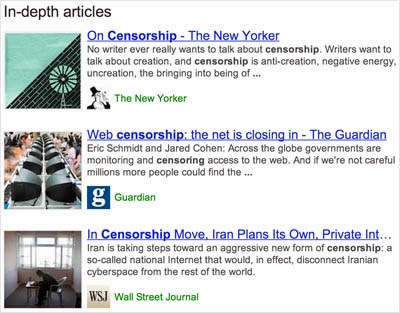 10 SEO Trends - In-depth articles live in Google serps