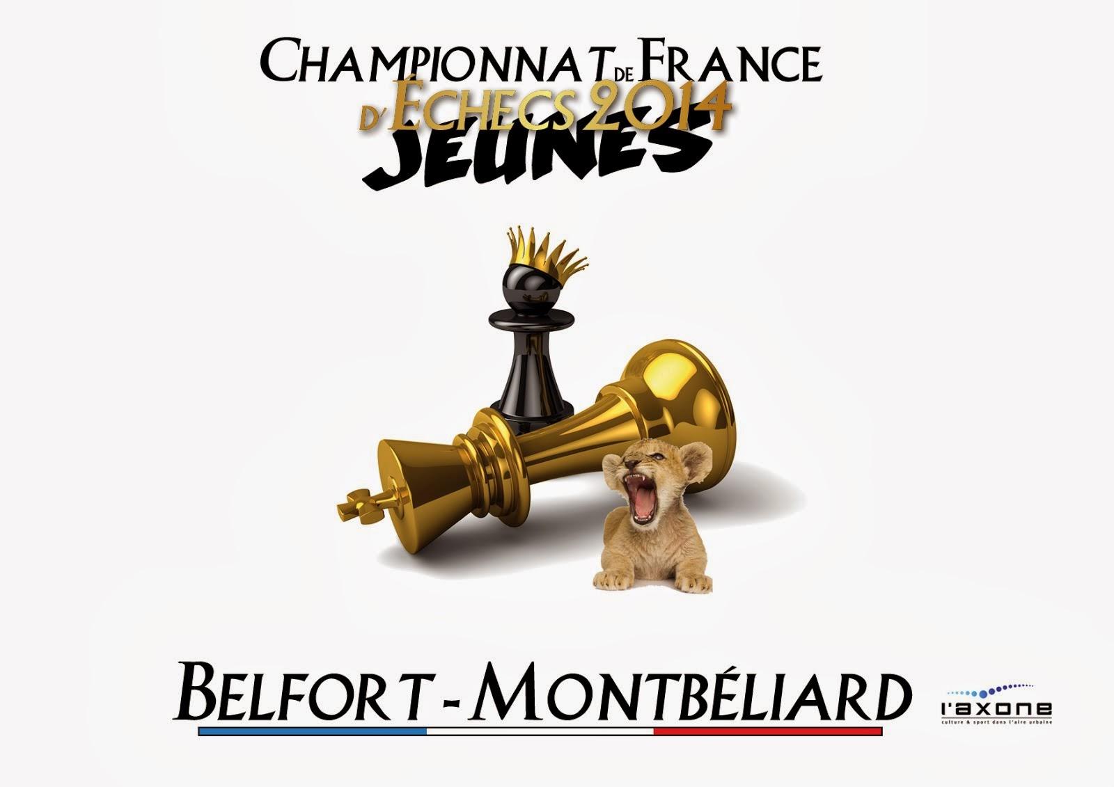 """Championnat de France d'Echecs Jeunes """"Montbéliard 2014"""""""