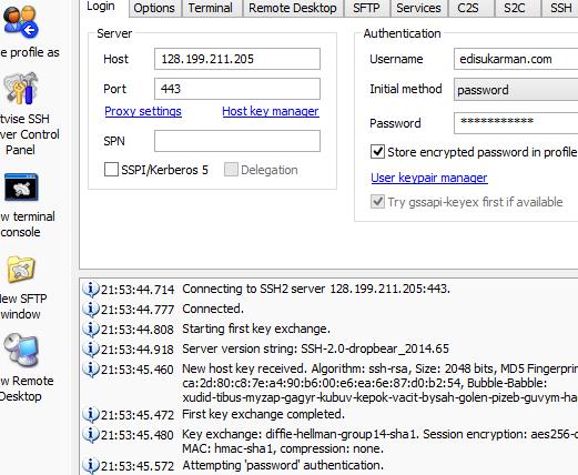 SSH Account Server Singapura (SG.DO) Gratis 30 Oktober 2014