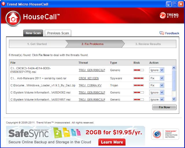 برنامج Trend Micro HouseCall لحماية جهازك من ملفات التجسس