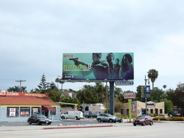 Sense 8 series launch billboard