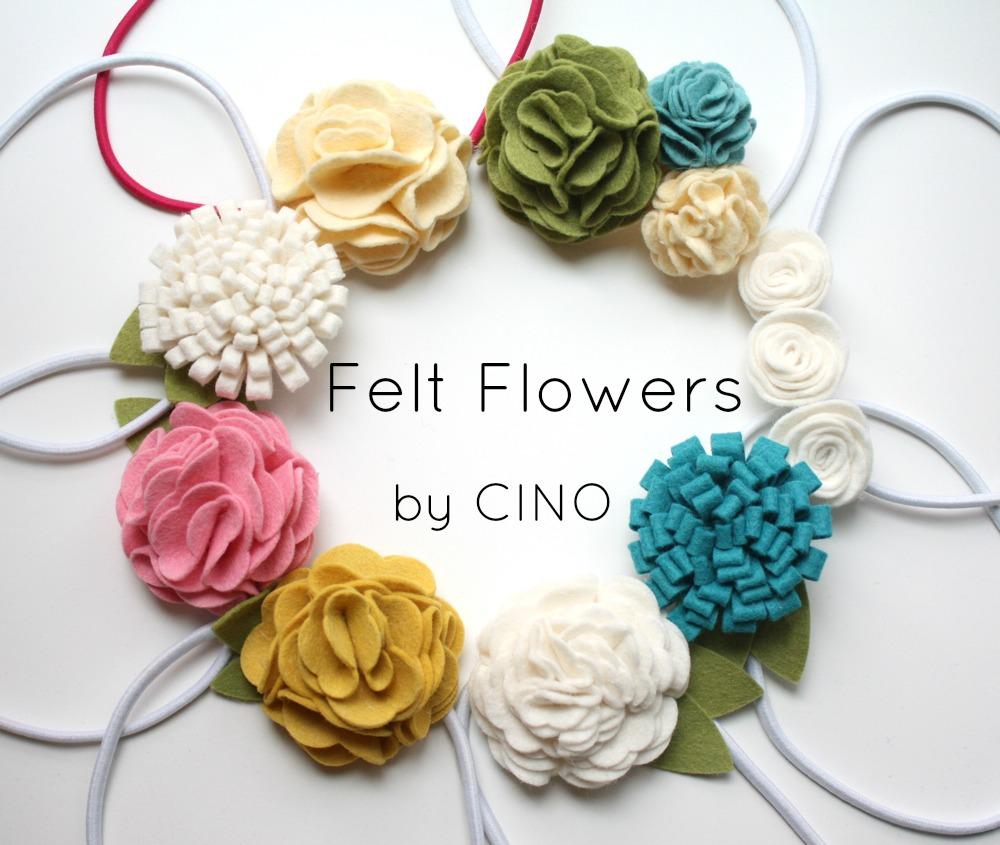 Felt Flowers Easy Layered Flower Tutorial