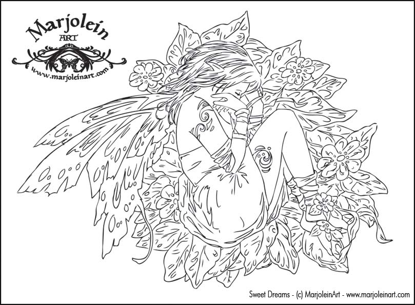 fairy coloring pages for adults - photo#23