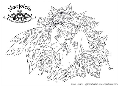 Fairy Coloring Pages for Adults Only