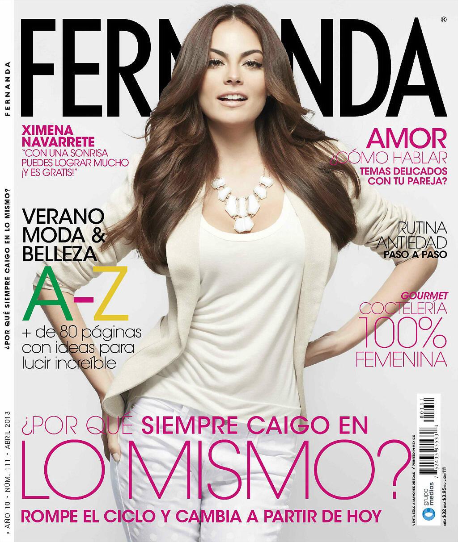 Ximena Navarrete en portada tras La Tempestad.