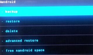 Backup Android Data Nandroid Backup