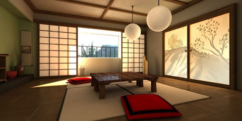 Simple Japanese Style Living Room