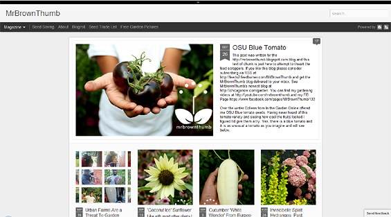 Dynamic View Blogger templates, Garden Blogs.