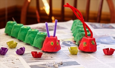 egg carton animal craft design ideas