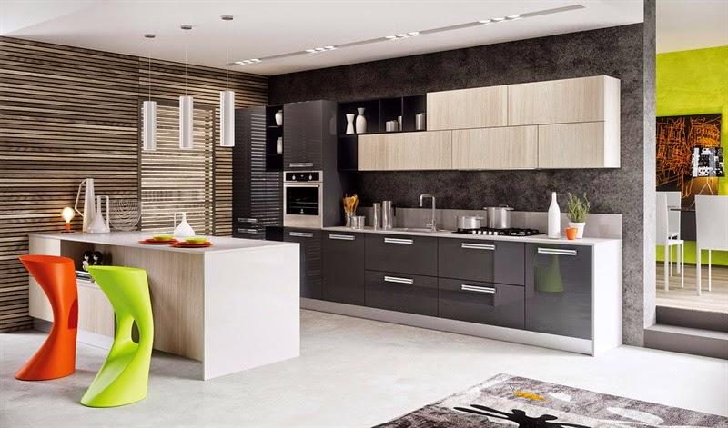 Colores De Muebles De Cocina Modernos. Cool Cocina Pequea Con ...