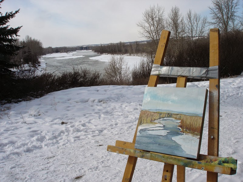 Verna Vogel landscape painting on location