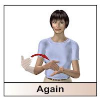 ASL for again