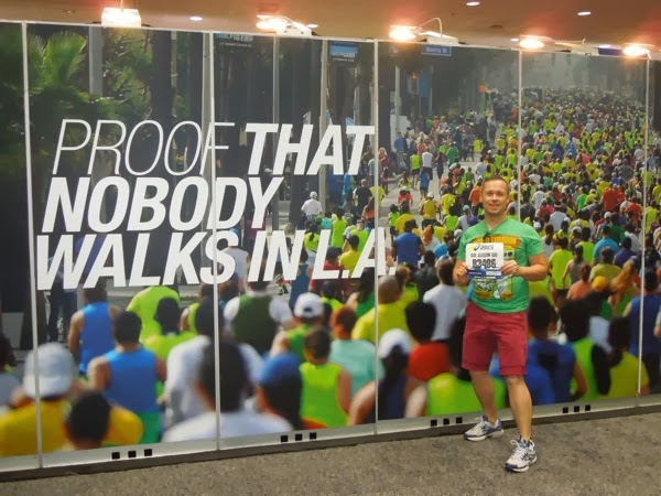 Proof that nobody walks in LA Marathon Expo 2014