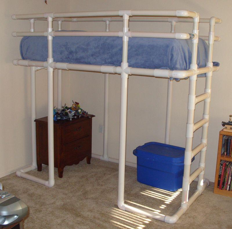 Diary of a Lucky Mom: PVC Loft Bed