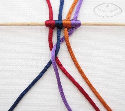 warkocz z czterech sznurków 4