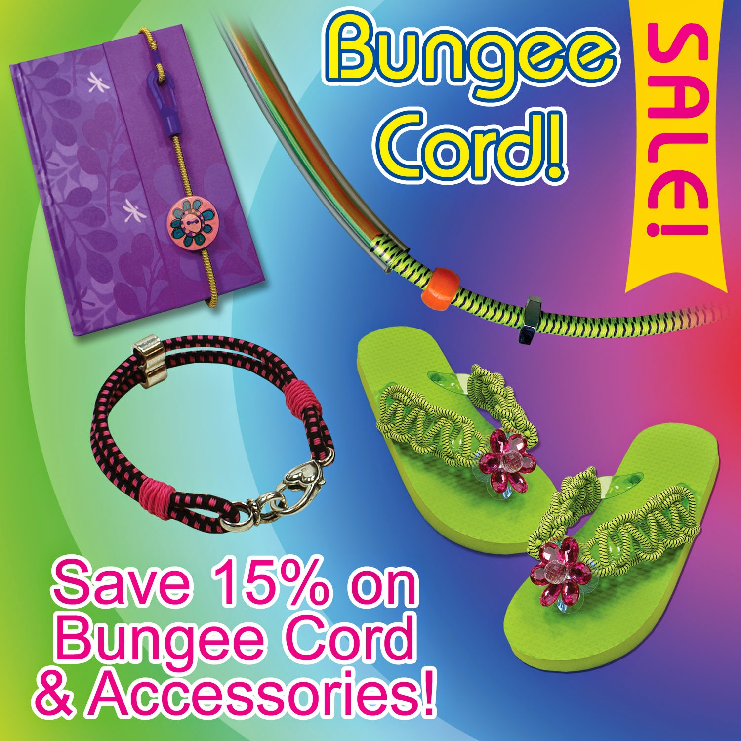 Bungee sale through Aug. 31 2014 - Rexlace Club and Macrame Super Store