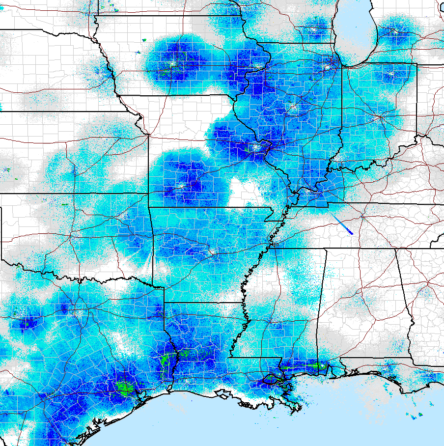 Texas And Louisiana Have Good Movement And It Looks Like Illinois Is The Heart Of Movement In The Midwest Further North Of This Image Is Not Showing Much