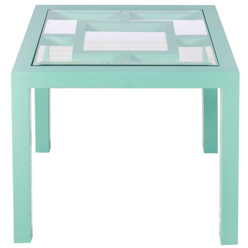 ZINC DOOR WORLDS AWAY SAG HARBOR TURQUOISE TABLE