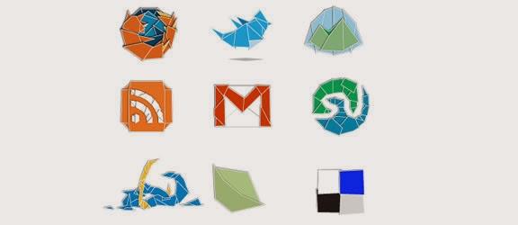 Web 2.Origami Icon Set