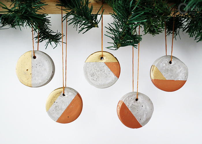 How to make christmas ornament with concrete ohoh